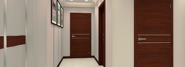 korytarz z drzwiami z odwrotną przylgą